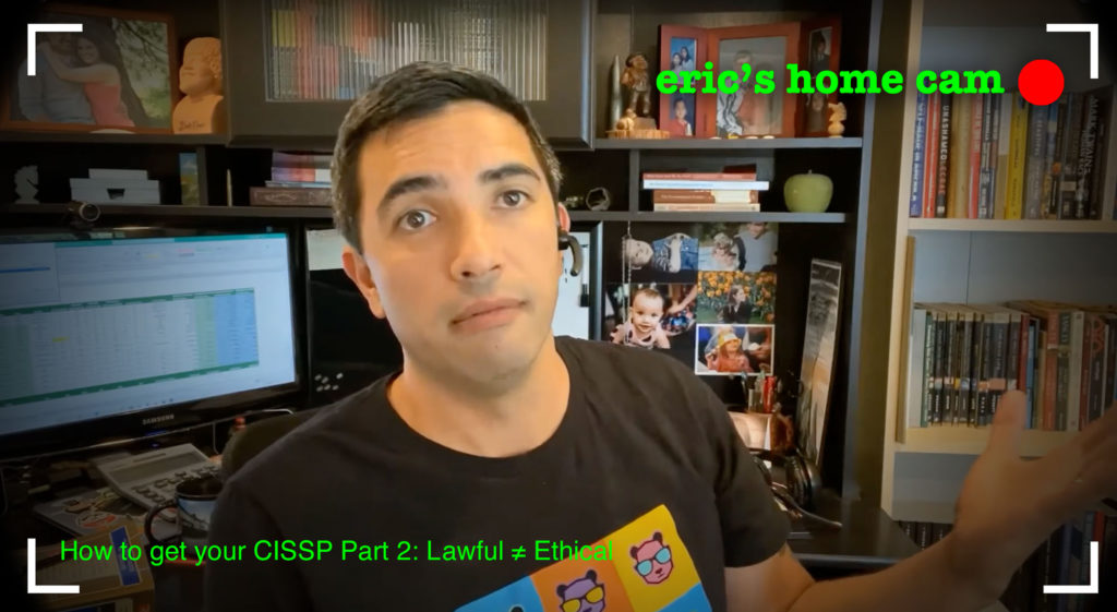 screen capture from eric skeens' cissp video series